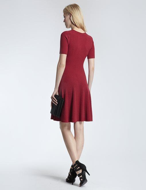 vestido-punto-rojo-morgan-1