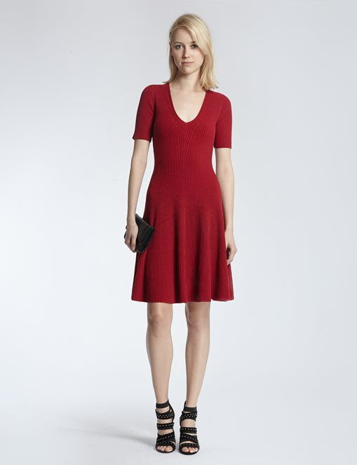 vestido-punto-rojo-morgan